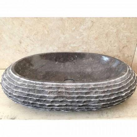 Lavabo da appoggio colore grigio scuro Ewa, pezzo unico di design