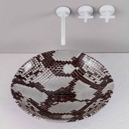 Lavabo da appoggio design ceramica cobrata made Italy Animals