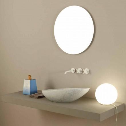 Lavabo da appoggio di design ceramica pitone bianco made Italy Glossy