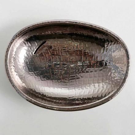 Lavabo da appoggio di design ceramica silver made in Italy Glossy