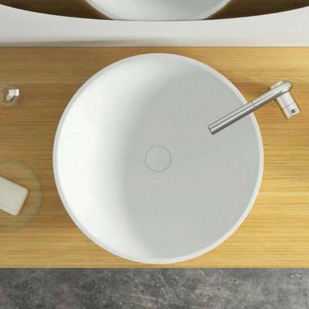 Lavabo da appoggio freestanding circolare moderno made in Italy,Donnas