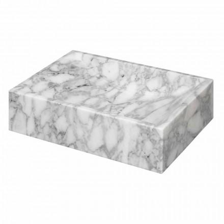 Lavabo da Appoggio in Marmo di Cararra Quadrato Made in Italy – Canova