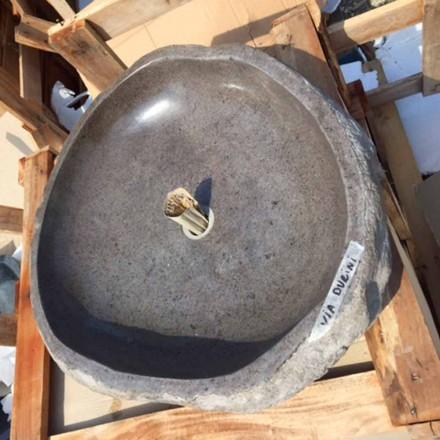 Lavabo da Appoggio Lavorato Artigianalmente in Pietra di Fiume - Aurea