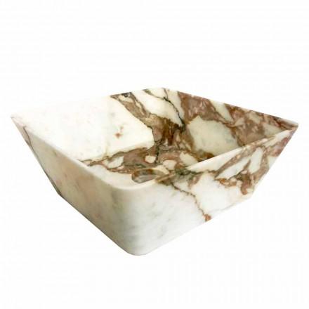 Lavabo da Appoggio Moderno in Marmo Calacatta di Design Made in Italy - Kuore