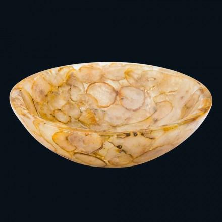 Lavabo da appoggio moderno in resina artificiale e pietra agata Petra
