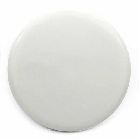Lavabo da Appoggio o a Sospensione in Ceramica Design Quadrato - Malvina