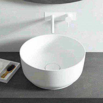 Lavabo da bagno rotondo design moderno freestanding made Italy Dalmine