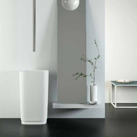 Lavabo da terra freestanding circolare di design made in Italy, Lallio