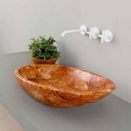 Lavabo di design da appoggio ceramica tartaruga made in Italy Glossy