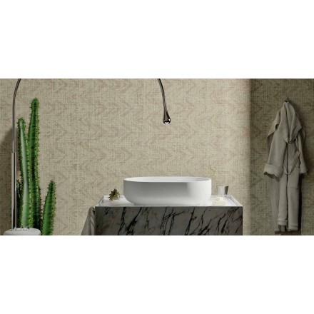 Lavabo di design in Solid Surface da appoggio, Formicola