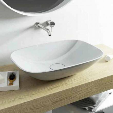 Lavabo da appoggio design moderno Taormina Medium, made in Italy