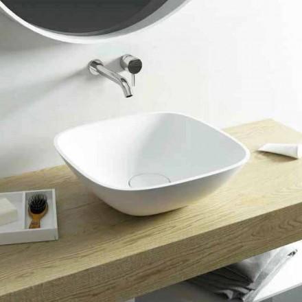 Lavabo da appoggio quadrato da bagno made in Italy Taormina Mini