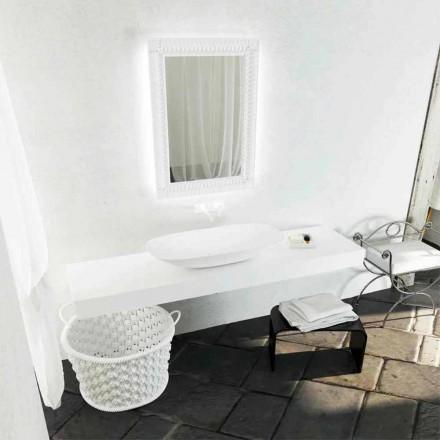 Lavabo da appoggio moderno di design Taormina Maxi, made in Italy