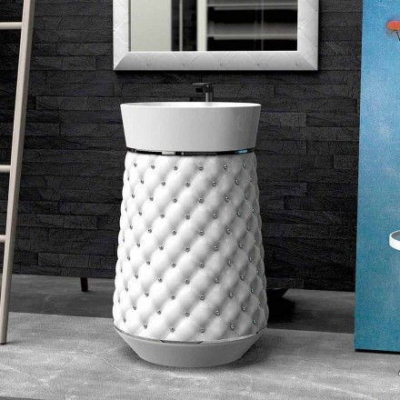 Lavabo freestanding design moderno in Solid Surface Elizabeth