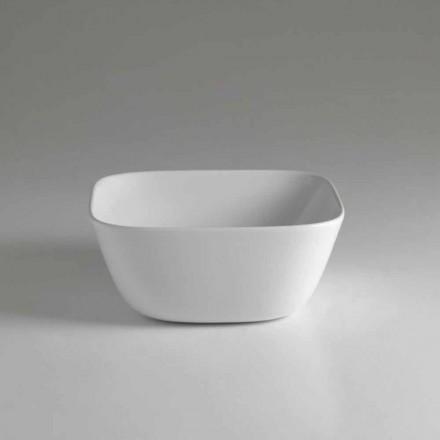 Lavabo in Ceramica da Appoggio Quadrato di Design Made in Italy – Sonne