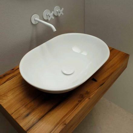 Lavabo in ceramica di design moderno da appoggio made in Italy