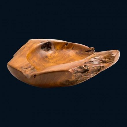 Lavabo in legno di teak da appoggio fatto a mano Nemo