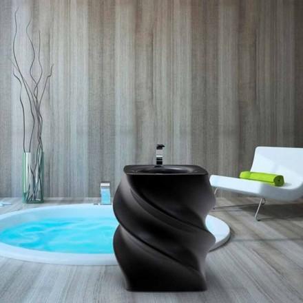Lavabo nero freestanding design moderno Twist made in Italy