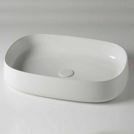 Lavabo Ovale L 60 cm da Appoggio Moderno in Ceramica Made in Italy – Cordino