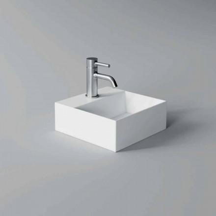 Lavabo Quadrato o Rettangolare di Design Moderno in Ceramica Made in Italy - Act