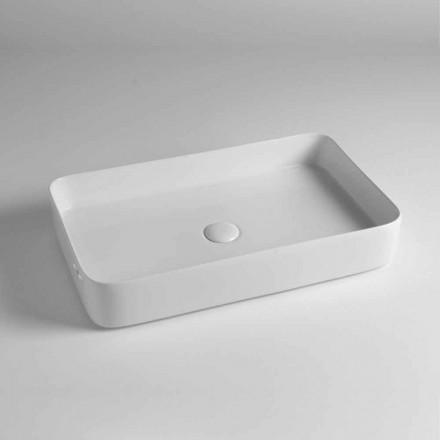 Lavabo Rettangolare da Appoggio in Ceramica Colorata Made in Italy – Dable