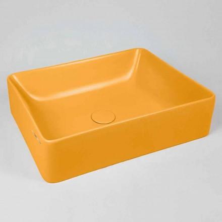 Lavabo Rettangolare da Appoggio L 60 cm in Ceramica Made in Italy – Rotolino
