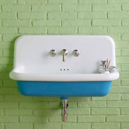 Lavabo rettangolare da muro vintage in ceramica dallo stile vintage Henry