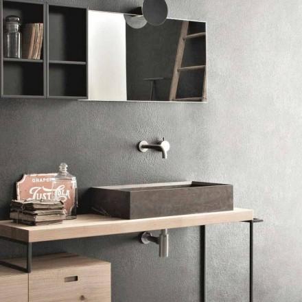 Lavabo Rettangolare e Moderno da Appoggio in Pietra di Design - Farartlav3