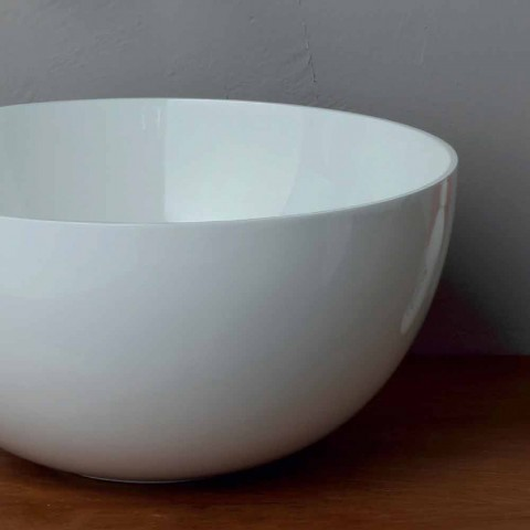 Ceramica Tiffany Civita Castellana.Lavabo Rotondo Da Appoggio In Ceramica Design Moderno Star Round 40 Cm