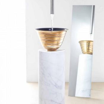 Lavabo soprapiano moderno in gres porcellanato made in Italy, Marcello