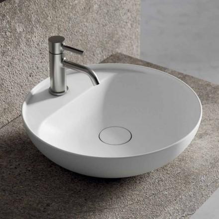 Lavabo Tondo da Appoggio in Ceramica per il Bagno Made in Italy - Omarance