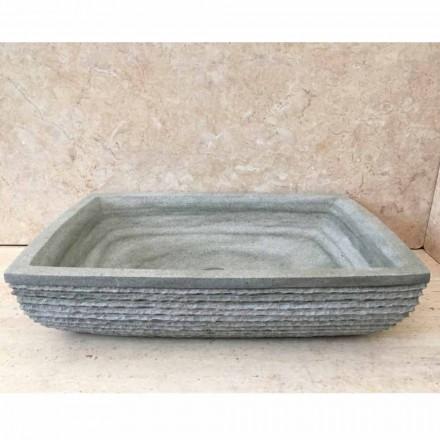 Lavabo da appoggio verde di design per bagno Hilda, in pietra naturale
