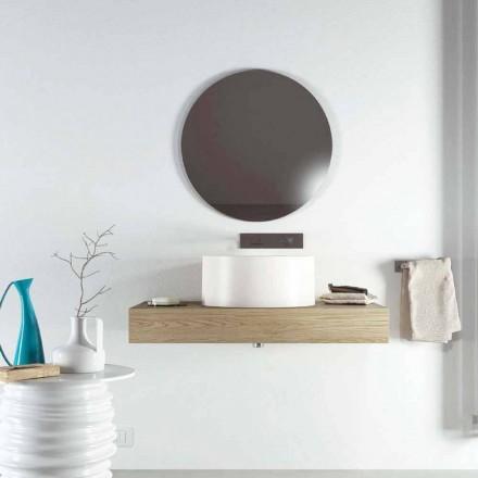 Lavandino da appoggio circolare di design prodotto in Italia, Forino