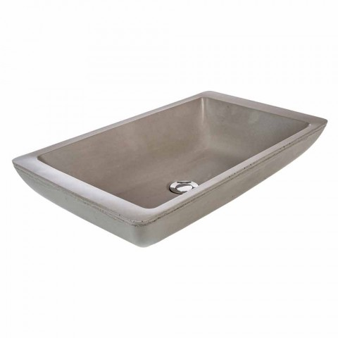 Lavandino da appoggio di design a vasca in cemento fatto a mano Rivoli