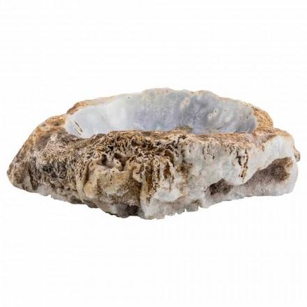 Lavandino da appoggio fatto a mano in pietra agata, Posina