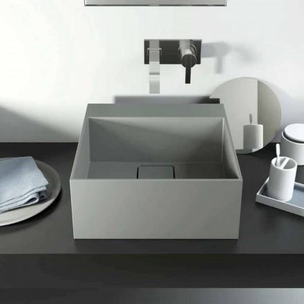 Lavandino di design da appoggio prodotto in Italia, Lavis