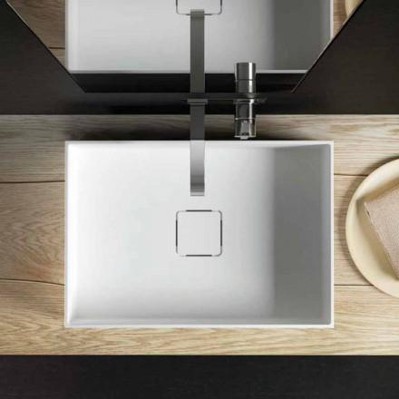 Lavandino di moderno design da appoggio fatto in Italia, Lavis