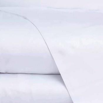 Lenzuola in Raso di Cotone Completo da Letto Matrimoniale Tinta Unita - Fresia