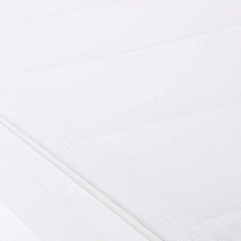 Lettino Chaise Longue da Giardino in Alluminio con Ruote per Esterni - Franz