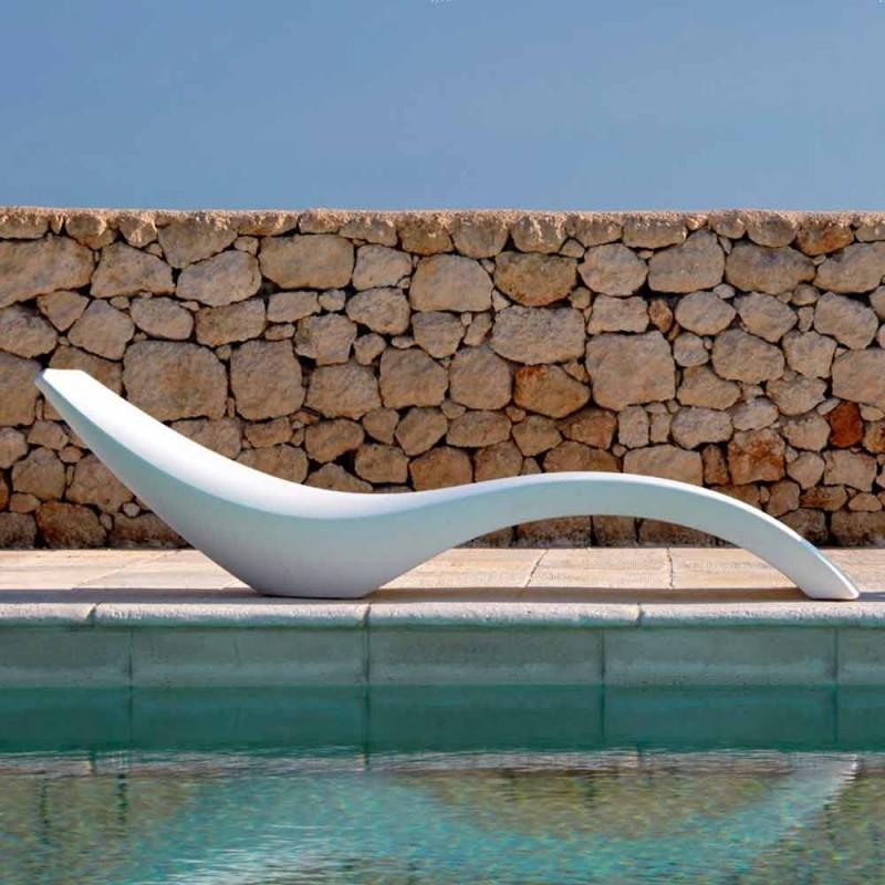 Lettino Chaise Longue di Design Moderno in Polietilene Colorato - Cloe by Myyour