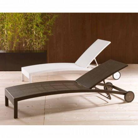 Lettino con ruote e schienale regolabile Sun Bed