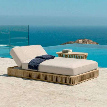 Lettino da esterno reclinabile moderno Cliff Talenti, design Palomba