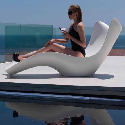 Lettino da giardino Surf by Vondom, design moderno in polietilene, 2 pezzi