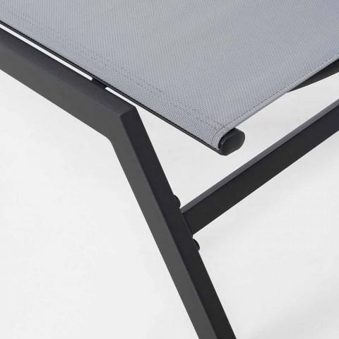 Lettino di Design con Ruote per Esterni Chaise Longue da Giardino - Osvaldo