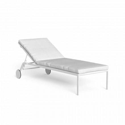 Chaise Longue Giardino Reclinabile con Ruote in Alluminio - Riviera by Talenti