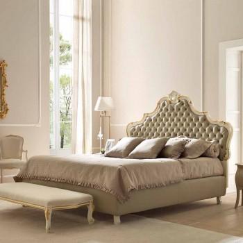 Letto matrimoniale con contenitore, design classico, Chantal by Bolzan