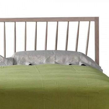 Letto matrimoniale di design 160x200cm con base in noce massello Alain