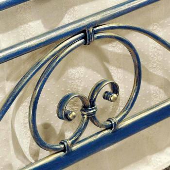 Letto una piazza e mezzo in ferro battuto schiacciato di design Gloria