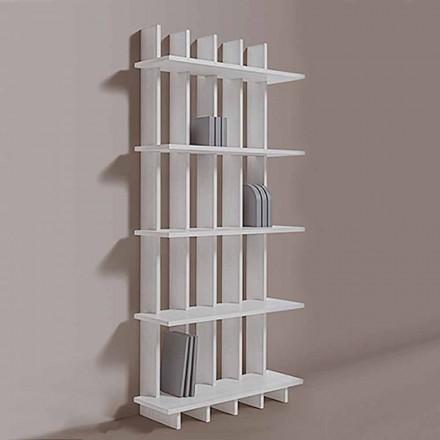 Libreria a Parete Shabby Chic in Legno Frassino di Design Moderno - Babele