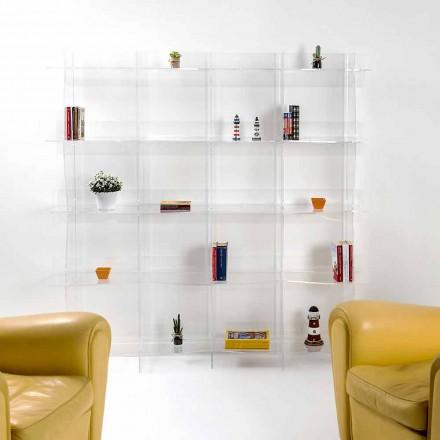 Libreria autoportante/a muro design moderno Pam trasparente
